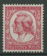 Deutsches Reich 1934 175. Geb. Fr. Schiller 555 Mit Neugummierung (R19049) - Nuevos