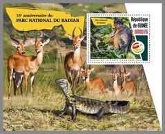 GUINEA REP. 2020 MNH Monkeys Affen Singes Badiar National Park S/S - OFFICIAL ISSUE - DHQ2107 - Mono
