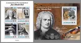 GUINEA REP. 2020 MNH Johann Sebastian Bach Composer Komponist Compositeur M/S+S/S - OFFICIAL ISSUE - DHQ2107 - Music