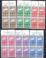 Luxembourg - Luxemburg , Timbres 1936  Kongress F.I.P.  -  Satz 4er Blocs - Blokken & Velletjes