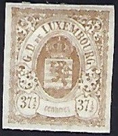 Luxembourg - Luxemburg , Timbres 1875  Armoires  37,5C. * Gomme  -  Michel 36IU  VC. 600,- - Blocks & Kleinbögen