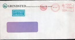 Danmark - 1987 - Lettre - Cachet Spécial - Affranchissement Mécanique - Grindsted - A1RR2 - Cartas
