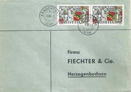 Brief  Krauchthal (Bern) - Herzogenbuchsee  (750 Jahre Bern)            1941 - Covers & Documents