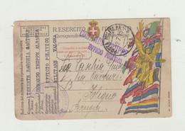 FRANCHIGIA POSTA MILITARE 111 DEL 1919 - COMANDO TRUPPE ALBANIA - UFFICIO POLITICO DA TENENTE VERSO FOLIGNO WW1 - Franchise