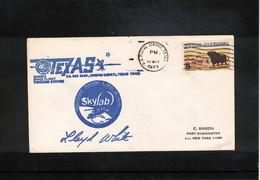 USA 1973 Space / Raumfahrt Skylab Texas Tracking Station Interesting Letter - USA