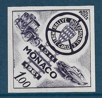 Monaco Essai De Couleur Non Dentelé  N°555**. Rallye Automobile De Monte-Carlo. - Variedades Y Curiosidades