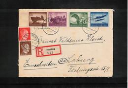 Germany / Deutschland 1944 Interesting Registered Letter Only Front Part Of The Letter - Storia Postale