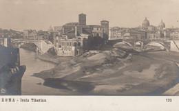ROMA-ISOLA TIBERINA-CARTOLINA VERA FOTOGRAFIA-NON  VIAGGIATA -ANNO 1910-1920-(NPG) - Otros