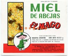 Label Etiqueta Honey Miel De Abejas El Mago Las Marianas Buenos Aires Argentina - Otros
