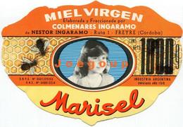 Label Etiqueta Virgin Honey Miel De Abejas Marisel Ingaramo Freyre Cordoba Argentina 1980 - Otros