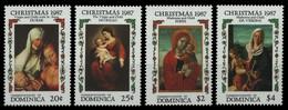 Dominica 1987 - Mi-Nr. 1061-1064 ** - MNH - Weihnachten / X-mas - Dominica (1978-...)