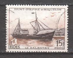 St Pierre Et Miquelon 1956 Mi 379 Canceled SHIP - Oblitérés