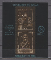 Tchad 1971 Mi Block 20 MNH NAPOLEON BONAPARTE - GOLD EDITION - Napoleon