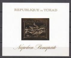 Tchad 1971 Mi Block 26 MNH NAPOLEON BONAPARTE - GOLD EDITION - Napoleon