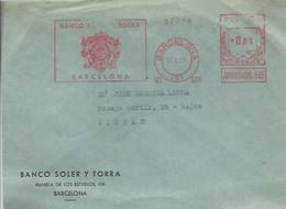 FRANQUEO MECANICO   1959  BARCELONA - Marcofilia - EMA ( Maquina De Huellas A Franquear)