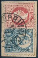 """1871 1867-es 5kr és Réznyomat 10kr Kivágáson """"KOPRIVNICA"""" (600.000) - Non Classificati"""