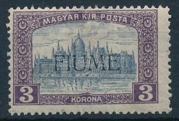 * Fiume 1918 Parlament 3K H.II. Felülnyomással, Bodor Vizsgálójellel (Sassone EUR 2.200,-) (betapadás / Gum Disturbance) - Non Classificati