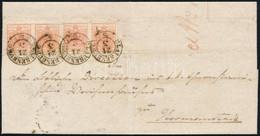 """1853 2 X 3kr Pár HP Ib, 3 Bélyegen átmenő Látványos Papírránc / 2 X 3kr Pair, Paper Crease On 3 Stamps """"CLAUSENBURG"""" - H - Non Classificati"""