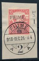 Fiume 1918 Fehérszámú Arató 10f M II, Kivágáson. Certificate: Bodor (Sassone EUR 16.000,-) - Non Classificati