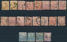 O 1871 Kőnyomat 20 Db Bélyeg Kisebb - Nagyobb Hibákkal, Tanulmányozási Célra (290.000) / First Issue, 20 Mixed Quality S - Non Classificati