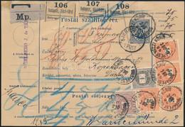 """1896 Szállítólevél 1+24+4x50kr Bérmentesítéssel, """"BUDAPEST VÁCZI KÖRÚT - KJOBENHAVN"""" (Dánia) - Non Classificati"""