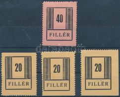 ** Nyíregyháza I. 1944 3 X 20f + 40f Vizsgálat Nélkül / No Expertize (440.000) - Non Classificati