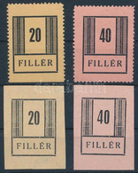 **, (*) Nyíregyháza I. 1944 20f és 40f Postatiszta Fogazott + 20f és 40f Vágott Gumi Nélküli értékek (min 240.000) (vizs - Non Classificati