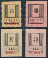 **, (*) Nyíregyháza II. 1945 20f és 40f Postatiszta Fogazott + 20f és 40f Vágott Gumi Nélküli értékek (min 210.000) (viz - Non Classificati