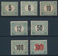 """**, * 1905 Zöldportó """"A"""" Sor + 1915 Kisegítő Portó 41, Mind 4. Vízjelállás, A 12f, 50f, 100f Postatiszta (198.000+++) - Non Classificati"""