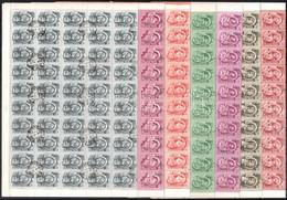 O 1951 Ötéves Terv (II.) Sor Hajtott 100-as ívekben (150.000) - Non Classificati