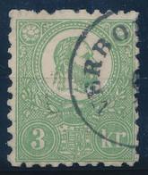 O 1871 Kőnyomat 3kr (140.000) Sign. Ferchenbauer. (pici Elvékonyodás / Thin Paper) - Non Classificati