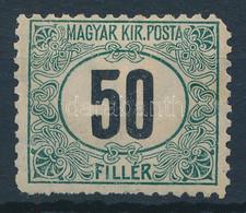 """* 1903 Zöldportó """"B"""" 50f Számvízjellel, """"b"""" Számvízjelállás (120.000+++) (foghibák / Short Perfs) - Non Classificati"""