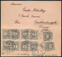 "1898 10 X 1kr Levélen / On Cover ""BUDAPEST"" - ""CONSTANTINOPLE"" - Non Classificati"