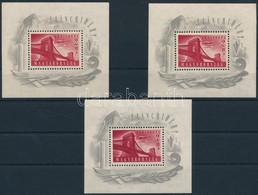 ** 1948 3 Db Lánchíd I Blokk (90.000) (vegyes Minőség / Mixed Quality) - Non Classificati