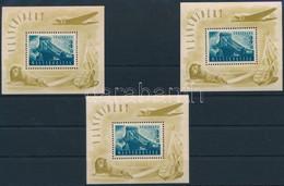 ** 1948 3 Db Lánchíd II Blokk (90.000) (vegyes Minőség / Mixed Quality) - Non Classificati