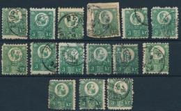O 1871 Réznyomat 3kr 15 Bélyeg (~84.000) - Non Classificati