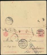 1899 5kr UPU Válaszos Díjjegyes Levelezőlap Budapestről Natalba, Afrikába Küldve Fokvároson Keresztül. Érkeztetve, Majd  - Non Classificati