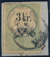"""1850 3kr C.M. Okmánybélyeg Levélkivágáson, Postai Forgalomban Felhasználva """"FIUME"""" Bélyegzéssel, RR! - Non Classificati"""