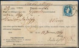 """1869 Tértivevény 10kr Bérmentesítéssel, Szép állapotban """"GYOROK"""" (MBK 1800p) - Non Classificati"""