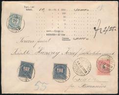 """1893.dec.27. 2Ft 25kr értéklevél Színesszámú 2 X 1Ft + 20kr + Feketeszámú 5kr Bérmentesítéssel """"BUDAPEST / JÓZSEF TÉR"""" - - Non Classificati"""