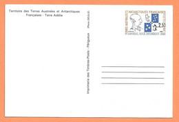 CARTE ENTIER POSTAL TAAF TERRE ADÉLIE - AMIRAL MAX DOUGUET 1903 1909 - PHOTO DELILLE - PINGOUIN MANCHOT - 2 Scans - Entiers Postaux