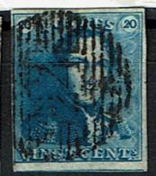 2  Obl P 24 BXL  4 Marges  65 - 1849 Epaulettes