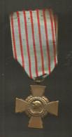 MILITARIA , Médaille, CROIX DU COMBATTANT ,République Française , 2 Scans, Frais Fr 1.95 € - Sin Clasificación