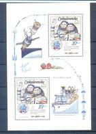 CZECHOSLOVAKIA  SHEET SPACE 1983  MNH - Sin Clasificación