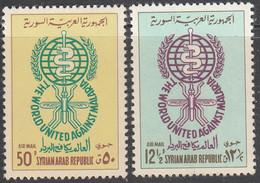 SYRIA   SCOTT NO  C267-68   MINT HINGED    YEAR  1962 - Syria