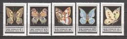 Syria 1979 Mi 1452-1456 MNH BUTTERFLIES - Butterflies