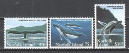 Norfolk Island 1995 Mi 581-583 MNH HUMPBACK WHALE - Baleines