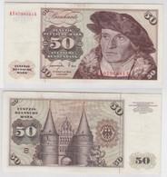 T141102 Banknote 50 DM Deutsche Mark Ro. 277a Schein 1.Juni 1977 KN KF 0796081 S - 50 Deutsche Mark