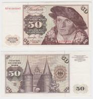 T144487 Banknote 50 DM Deutsche Mark Ro. 277a Schein 1.Juni 1977 KN KF 9128529 Z - 50 Deutsche Mark