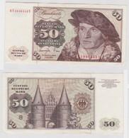 T144513 Banknote 50 DM Deutsche Mark Ro. 277a Schein 1.Juni 1977 KN KF 1946442 Y - 50 Deutsche Mark